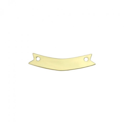 """Gold Plated Banner, 1 3/4"""" x 1/4"""""""