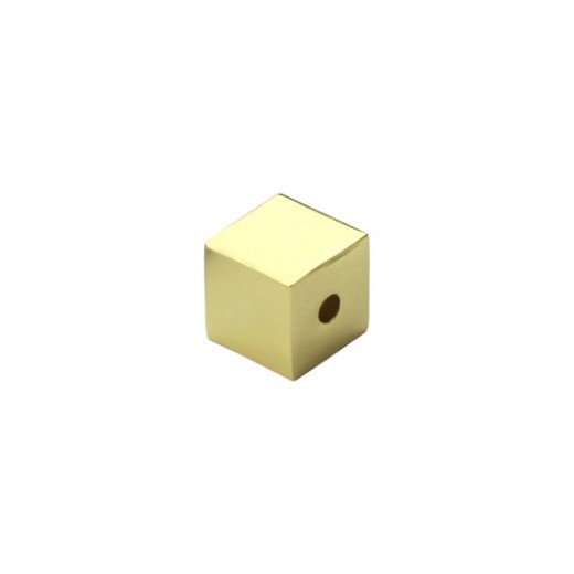 """Gold Plated Large Cube, 1/2"""""""