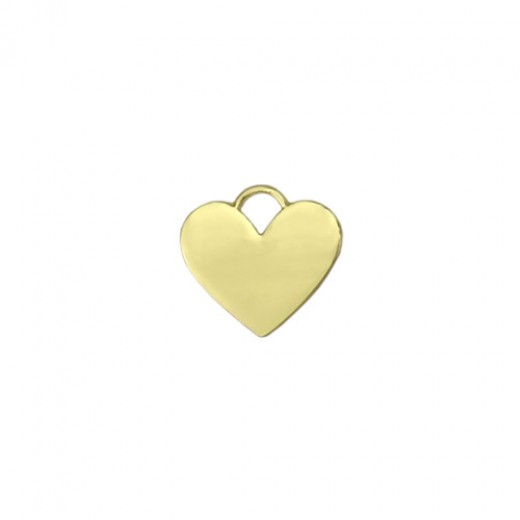"""Gold Plated Heart with Loop, 7/8"""""""