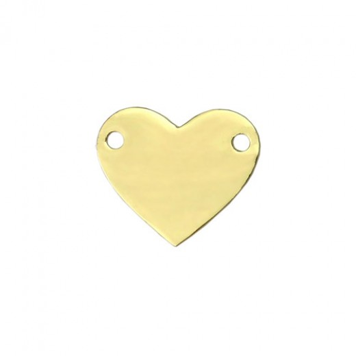 """Gold Plated Heart, 1 3/4 x 1/4"""""""