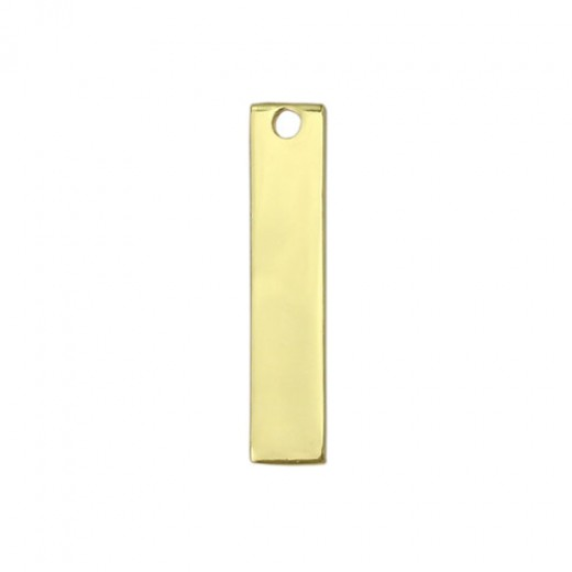 "Gold Plated Rectangle, 1 3/4"" x 1/4"""