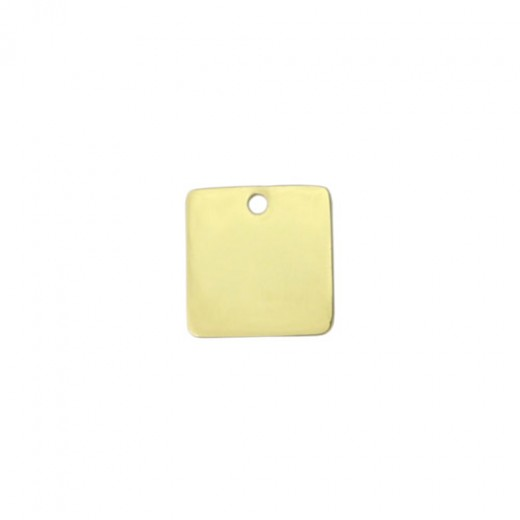 """Gold Plated Small Square, 3/4"""""""
