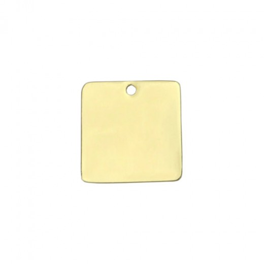 """Gold Plated Large Square, 1"""""""