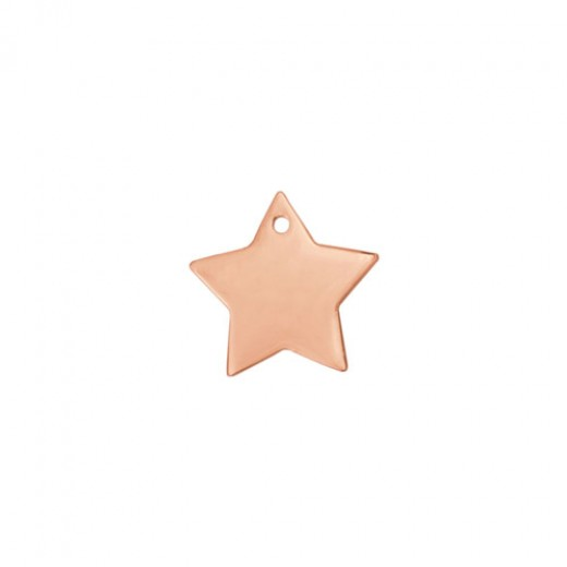 """Rose Gold Plated Star, 1"""""""