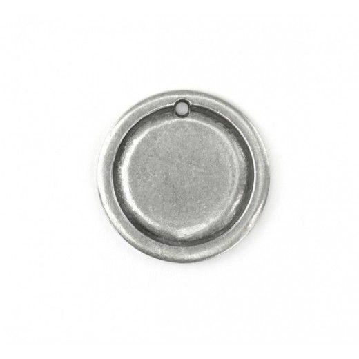 Pewter Large Circle, 27mm Border Blank