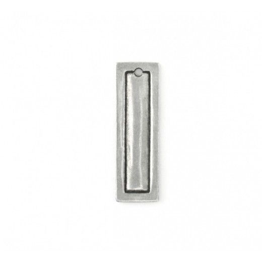 Pewter Small Rectangle, 10 x 32mm Border