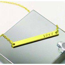 Ready to Wear Necklaces, Gold, Large Rectangle, Pack of 5