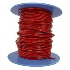 1.5mm Leather Cord, Red, 1m Length