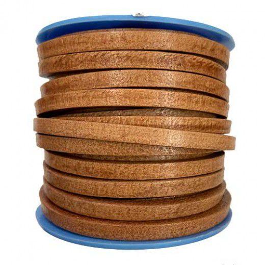 Camel Flat Leather 5mm, 1m Length
