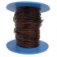1mm Leather Cord, Antique Maroon, 1m Length