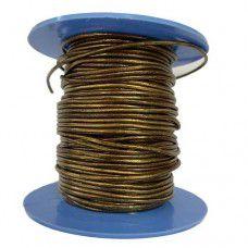 1.5mm Leather Cord, Metallic Gold, 1m Length
