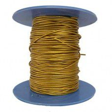 1mm Leather Cord, Metallic Yellow, 1m Length