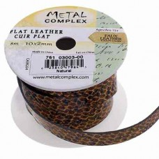 Natural Faux Snakeskin 10x2mm Leather in multiples of 20cm