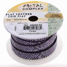 Purple Faux Snakeskin 10x2mm Leather in multiples of 20cm