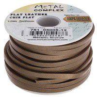 Metallic Bronze Flat Leather 5x2mm by the metre (maximum 5m)