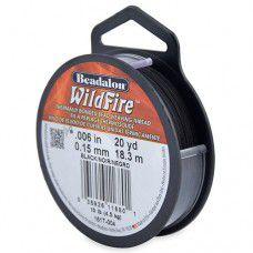 Beadalon 161T-004 Wildfire Beading Thread, .006 in, 0.15mm, Black, 20yds