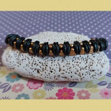 Bracelet SO Cute Bead Bundle - Forest Green and Gold