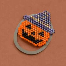 Halloween Miyuki Kit Pumpkin Charm Bead Bundle, Delica 11/0