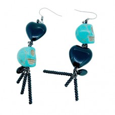 Quick Kits - Blue Spooky Skull Earrings Kit