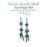 Quick Kits - Purple Spooky Skull Earrings Kit