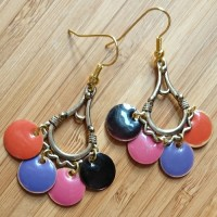 Quick Kits - Fiesta Enamel Circle Charm Earrings Kit - Multi-Colour