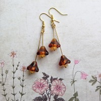 Quick Kits - Bell Flower Drop Earrings Kit - Tortoise