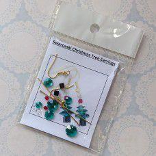 Swarovski Emerald Christmas Tree Earring Kits - Gold