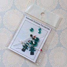Swarovski Emerald Christmas Tree Earring Kits - Silver