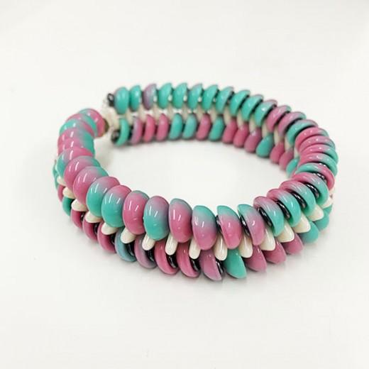 Slinky Bracelet Kit - Peppermint Pink
