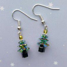 Swarovski Vitrail Christmas Tree Earring Kits - Silver