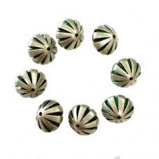 13x13mm Green Patina Bead