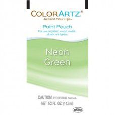 Color Artz - Paint Pouch - NEON GREEN - 14.7ml