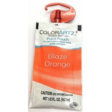Color Artz - Paint Pouch - BLAZE ORANGE - 14.7ml