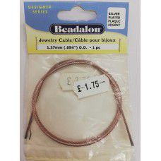 Beadalon - Silver Plated - Jewelry Cable1.37mm