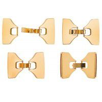 Leather Bow Shaped Clasp, 39 x 28.5mm Gold