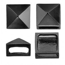 Metal Complex - Square Slider - Gunmetal - 13x10mm - 2 Pcs - 26037100-02h
