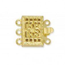 2 Strand Beadalon Filligree Clasps, Gold, Pack of 5