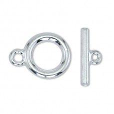 Beadalon Medium Toggle Clasps, Silver, Pack of 2