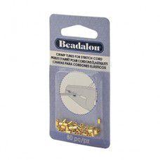 Beadalon Crimp Tubes - Gold - 80pcs - 346A-024