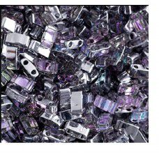Crystal Tr. Light Vitrail Miyuki Half Tila Beads, code 4574 - 5.2g approx