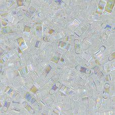Crystal AB Half Tila Beads, colour 0250, 5.2gm approx.