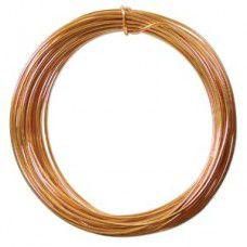 Gold colour Aluminium Wire, 12ga (2.1mm) 39 ft (11.88m)