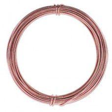 Rose Gold colour Aluminium Wire, 12ga (2.1mm) 39 ft (11.88m)