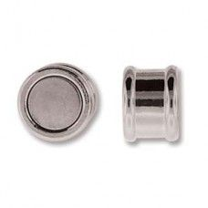 8 x 16mm Magnetic Bamboo Clasp, Silver