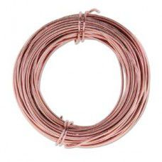 Rose Gold 18ga Aluminium Wire, 39ft (11.7m)
