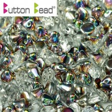Crystal Vitrail 4mm Button beads - pack of 50