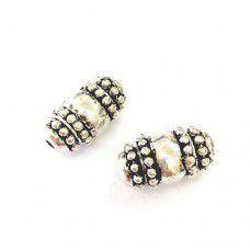 Pewter Silver Beads - 2pcs - PB40-72