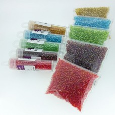 Fancy-Lined 11/0 Delicas and Seed Beads Bundle - Morning Brights Collection