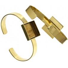 100% Brass Bezel Handmade Bracelet Cuff Square 21x4mm