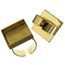 100% Brass Handmade Bezel, Square Ring, 21 x 3mm